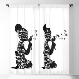 Children have never been very good at listening to their elders, but they have never failed to imita Blackout Curtain