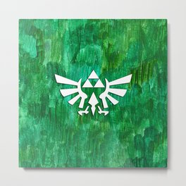 Zelda Triforce Painting Metal Print