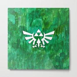 Zelda Triforce Painting Metal Print