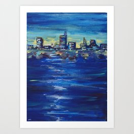Sunset City Art Print
