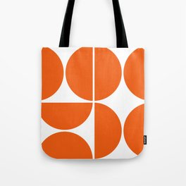 Mid Century Modern Orange Square Tote Bag