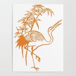 Orange Pelican Poster