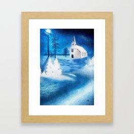 Christmas Serenade Framed Art Print