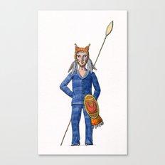 Lynx Warrior Canvas Print