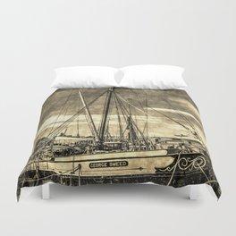 Thames Sailing Barges Vintage Duvet Cover