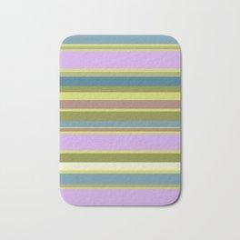 Multi-Color Strip Bath Mat