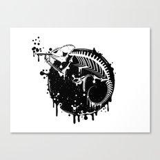 Smoking Chameleon Canvas Print