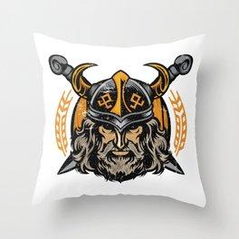 Viking Odin | Raven God Warrior Throw Pillow