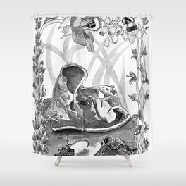 Mouse in the hause illustration Shower Curtain
