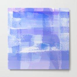 Purple Love, Painted Plaid I Metal Print