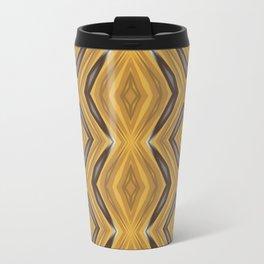 Yellow , Ochre and Brown Diamond Pattern Travel Mug
