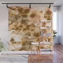 Woodland - Mixed media ink painting Wall Mural