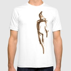 Shy Girl 2.0 SMALL Mens Fitted Tee White