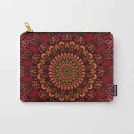 Bohemian Geometric Flower Mandala Carry-All Pouch