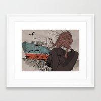 wanderlust Framed Art Prints featuring Wanderlust by Ruth Veres