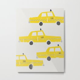 New York Taxicab Metal Print