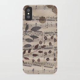 Old paper. Notes. iPhone Case