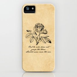 Anne Bronte - Crave the Rose iPhone Case