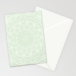 Olive Green Simple Simplistic Mandala Design Ethnic Tribal Pattern Stationery Cards
