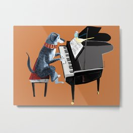 Piano lesson ( Doggy Art ) Metal Print
