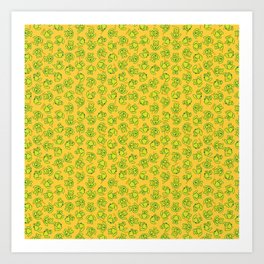 Botanken's Pattern Dream: Yellow. Art Print