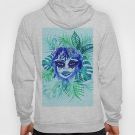 Woman with Tropic leaves Hoody