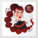 Scorpio Zodiac Illustration by vetvy