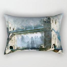 Watercolor Tower Bridge Rectangular Pillow