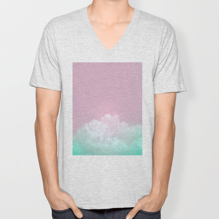 Dreamy Candy Sky Unisex V-Neck