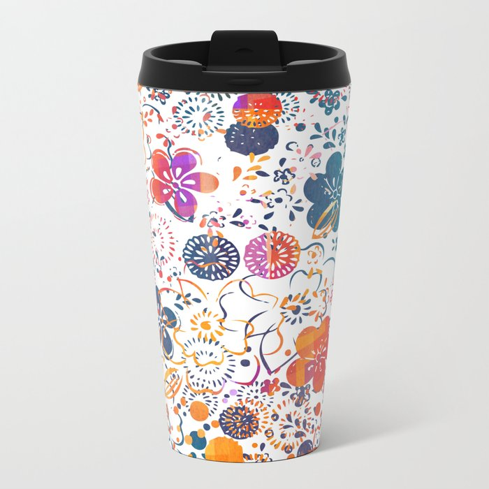 Summer Meadow Metal Travel Mug
