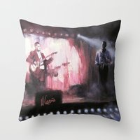 theatre Throw Pillows featuring Lotus Theatre by Miquel Cazanya