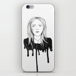 Blond dripping girl iPhone Skin