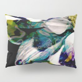 Fluid Nature - Marbled Daisy - Acrylic Pour & Photography Pillow Sham