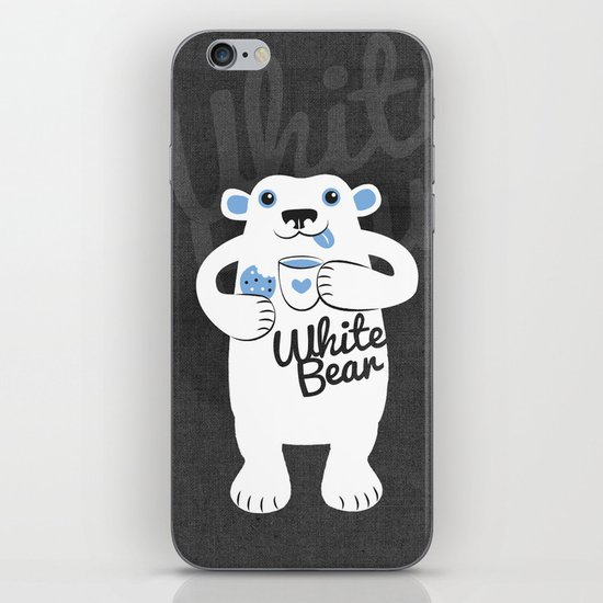 White Bear iPhone & iPod Skin