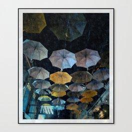 Umbrella night Canvas Print