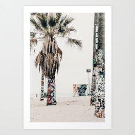 graffiti palms Art Print
