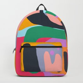 Shapes and Layers no.26 - Modern Abstract Flowers Backpack