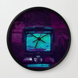 Tokyo Nights / Retro Arcade / Liam Wong Wall Clock