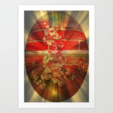Brick Egg. Art Print