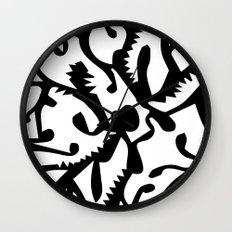 black ghosts Wall Clock