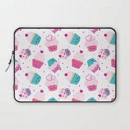 Neck Gaiter Kawaii Love Cupcakes Neck Gator Laptop Sleeve