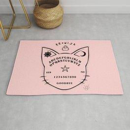 Meowija pink background Rug