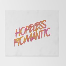 Hopeless Romantic Throw Blanket