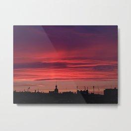 A Rooftop Glance Metal Print