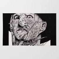 freddy krueger Area & Throw Rugs featuring Freddy Krueger by Emz Illustration