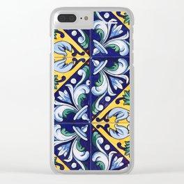 La Serena Tiles 02 Clear iPhone Case