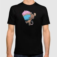 Cupcake Mouse MEDIUM Mens Fitted Tee Black