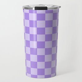 Lavender Check Travel Mug