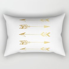 Faux gold foil arrows Rectangular Pillow