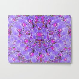 Violet Orchid Pleasure Metal Print